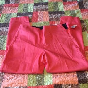 NWT old navy crop dress pants coral salmon colored
